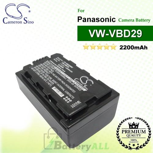 CS-VBD29MC For Panasonic Camera Battery Model VW-VBD29
