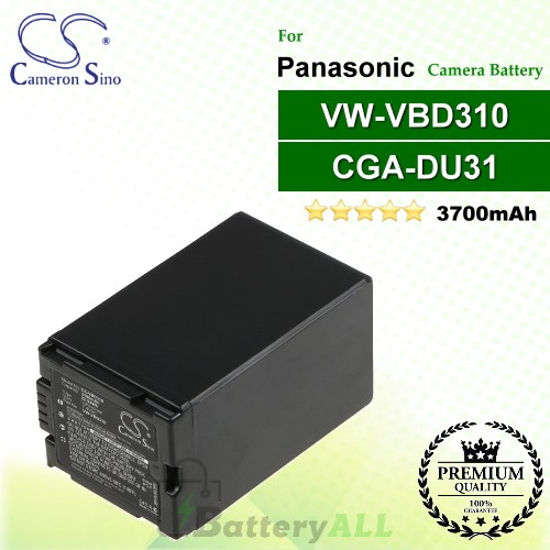CS-VBD310 For Panasonic Camera Battery Model CGA-DU31 / VW-VBD310