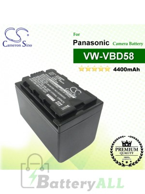 CS-VBD58MC For Panasonic Camera Battery Model VW-VBD29 / VW-VBD58 / VW-VBD58E-K / VW-VBD58PPK