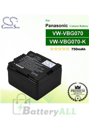 CS-VBG070 For Panasonic Camera Battery Model VW-VBG070 / VW-VBG070A / VW-VBG070-K