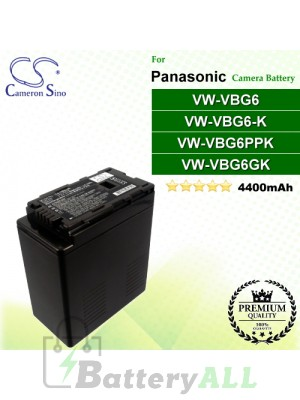 CS-VBG360 For Panasonic Camera Battery Model VW-VBG6 / VW-VBG6GK / VW-VBG6-K / VW-VBG6PPK