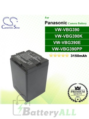 CS-VBG390 For Panasonic Camera Battery Model VW-VBG390 / VW-VBG390E / VW-VBG390K / VW-VBG390PP