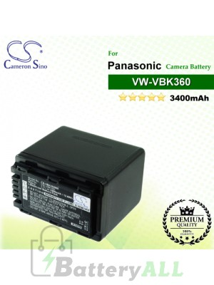 CS-VBK360MX For Panasonic Camera Battery Model VW-VBK360