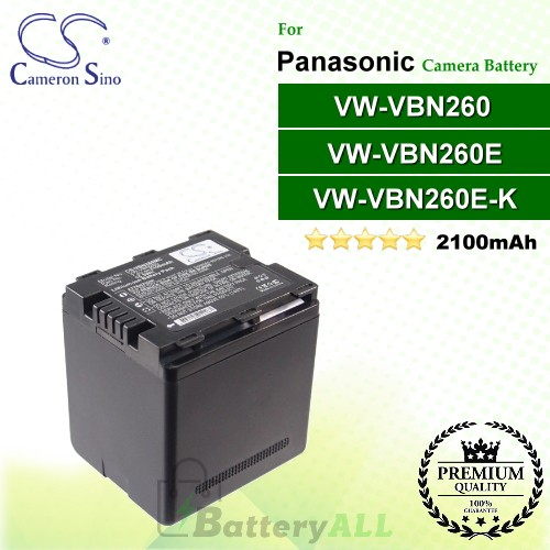 CS-VBN260MC For Panasonic Camera Battery Model VW-VBN260 / VW-VBN260E / VW-VBN260E-K