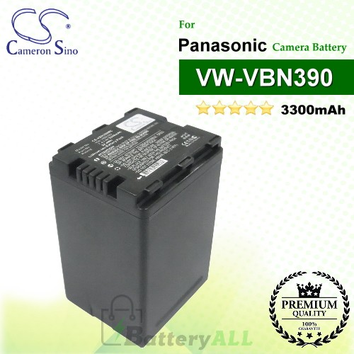 CS-VBN390MC For Panasonic Camera Battery Model VW-VBN390