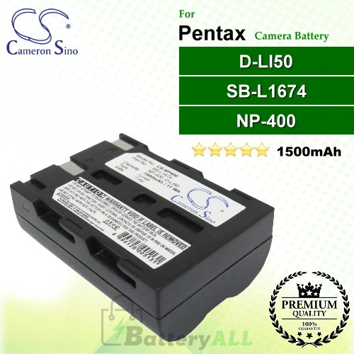 CS-NP400 For Pentax Camera Battery Model D-LI50