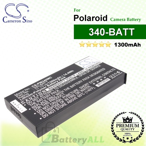 CS-PM340MC For Polaroid Camera Battery Model 340-BATT