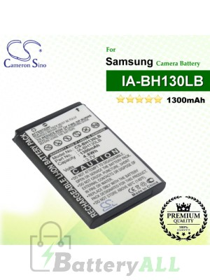 CS-BH130LB For Samsung Camera Battery Model BPBH130LB / IA-BH130LB / IA-LH130LB