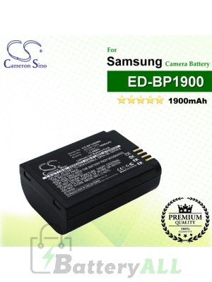 CS-BP1900MX For Samsung Camera Battery Model ED-BP1900