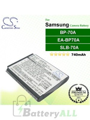 CS-BP70A For Samsung Camera Battery Model BP-70A / BP-70EP / EA-BP70A / SLB-70A