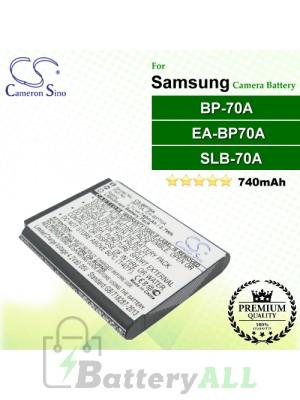 CS-BP70A For Samsung Camera Battery Model BP-70A / BP-70EP / EA-BP70A / SLB-70A