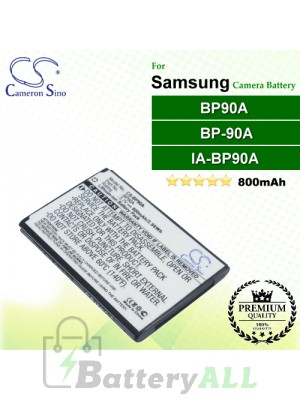 CS-BP90A For Samsung Camera Battery Model BP90A / BP-90A / IA-BP90A