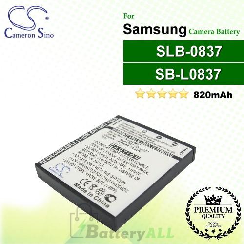 CS-SBL0837 For Samsung Camera Battery Model SB-L0837 / SLB-0837