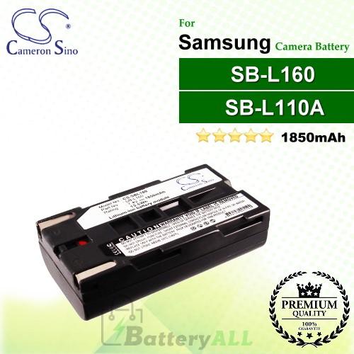 CS-SBL160 For Samsung Camera Battery Model SB-L110A / SB-L160 / SB-L320