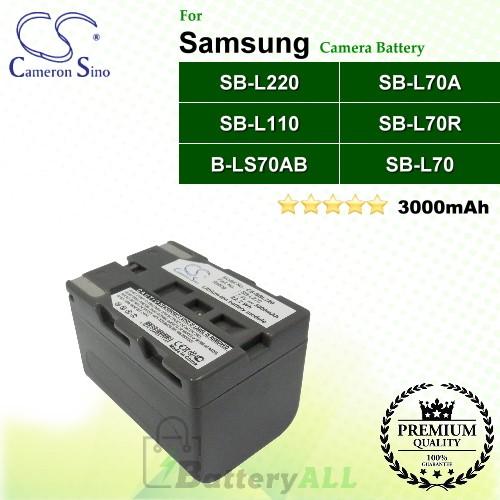 CS-SBL220 For Samsung Camera Battery Model SB-L110 / SB-L220 / SB-L70 / SB-L70A / SB-L70R / SB-LS70AB