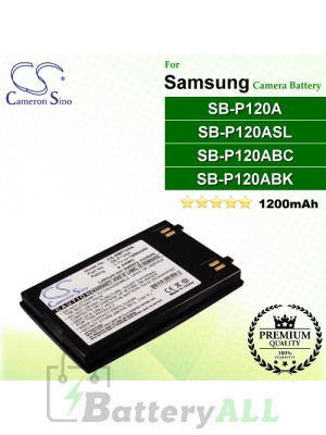CS-SBP120A For Samsung Camera Battery Model SB-P120A / SB-P120ABC / SB-P120ABK / SB-P120ASL
