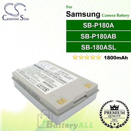 CS-SBP180A For Samsung Camera Battery Model SB-180ASL / SB-P180A / SB-P180AB