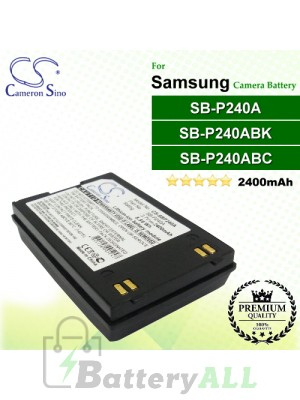 CS-SBP240A For Samsung Camera Battery Model SB-P240A / SB-P240ABC / SB-P240ABK