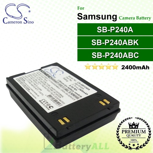 CS-SBP240A For Samsung Camera Battery Model SB-P240A / SB-P240ABC / SB-P240ABK