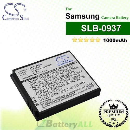 CS-SLB0937 For Samsung Camera Battery Model SLB-0937