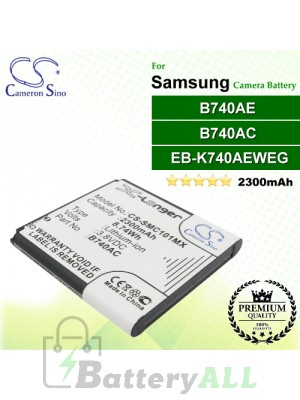 CS-SMC101MX For Samsung Camera Battery Model B740AC / B740AE / EB-K740AEWEG
