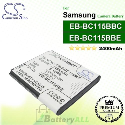 CS-SMC115MX For Samsung Camera Battery Model EB-BC115BBC / EB-BC115BBE
