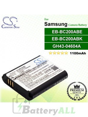 CS-SMC200MC For Samsung Camera Battery Model EB-BC200ABE / EB-BC200ABK / GH43-04604A