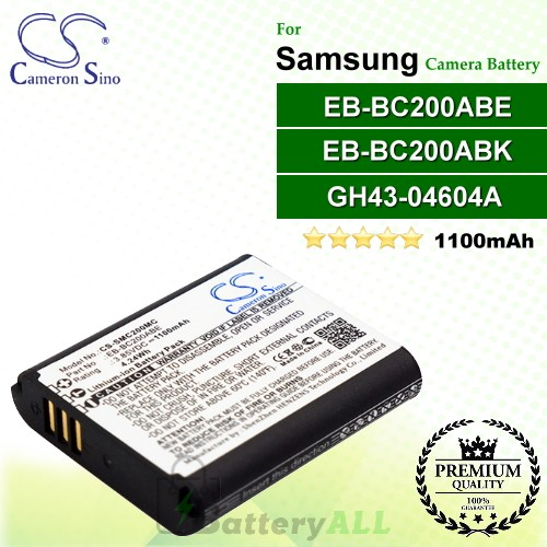 CS-SMC200MC For Samsung Camera Battery Model EB-BC200ABE / EB-BC200ABK / GH43-04604A