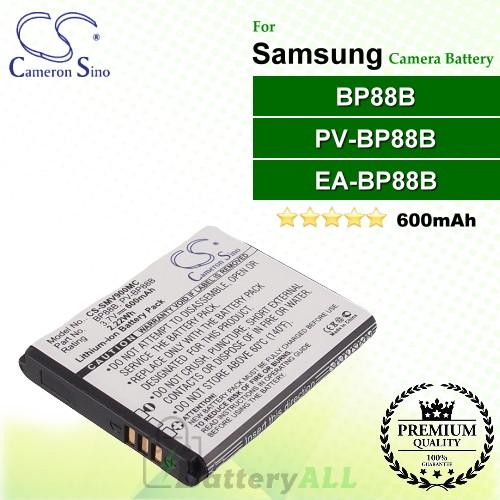 CS-SMV900MC For Samsung Camera Battery Model BP88B / EA-BP88B / PV-BP88B