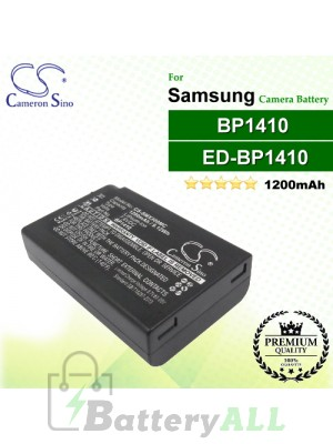CS-SMX300MC For Samsung Camera Battery Model BP1410 / ED-BP1410