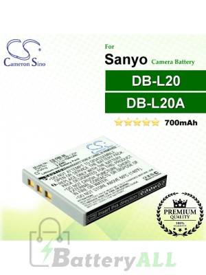 CS-DBL20 For Sanyo Camera Battery Model DB-L20 / DB-L20A