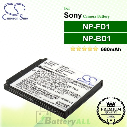 CS-BD1 For Sony Camera Battery Model NP-BD1 / NP-FD1
