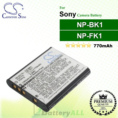 CS-BK1 For Sony Camera Battery Model NP-BK1 / NP-FK1