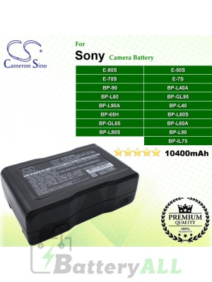 CS-BPL90MC For Sony Camera Battery Model BP-65H / BP-90 / BP-GL65 / BP-GL95 / BP-GL95A / BP-IL75 / BP-L40 / BP-L40A / BP-L60 / BP-L60A / BP-L60S / BP-L80S / BP-L90 / BP-L90A / E-50S / E-70S / E-7S / E-80S