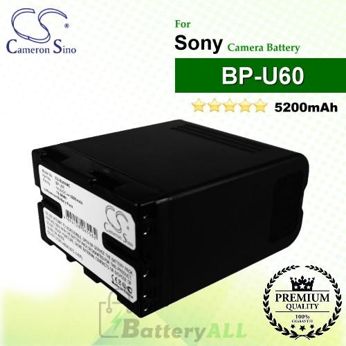 CS-BU60MC For Sony Camera Battery Model BP-U60
