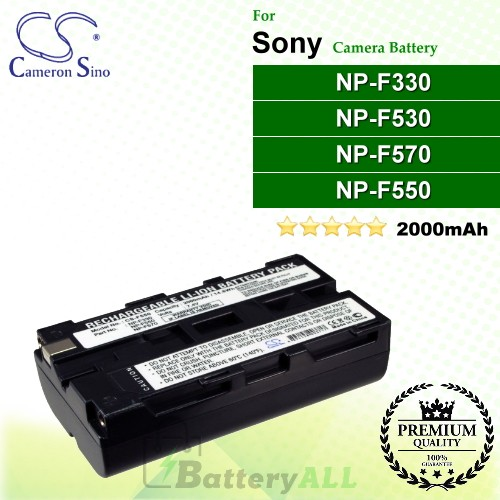 CS-F550 For Sony Camera Battery Model NP-F330 / NP-F530 / NP-F550 / NP-F570