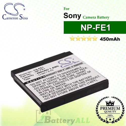 CS-FE1 For Sony Camera Battery Model NP-FE1
