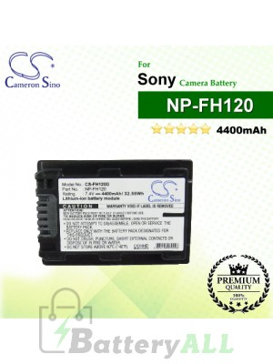 CS-FH120D For Sony Camera Battery Model NP-FH120