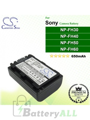 CS-FH50D For Sony Camera Battery Model NP-FH30 / NP-FH40 / NP-FH50 / NP-FH60