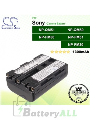 CS-FM50 For Sony Camera Battery Model NP-FM30 / NP-FM50 / NP-FM51 / NP-QM50 / NP-QM51