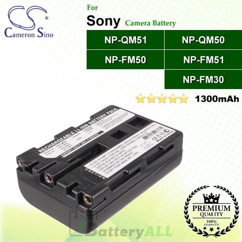 CS-FM50 For Sony Camera Battery Model NP-FM30 / NP-FM50 / NP-FM51 / NP-QM50 / NP-QM51