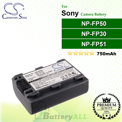 CS-FP50 For Sony Camera Battery Model NP-FP30 / NP-FP50 / NP-FP51