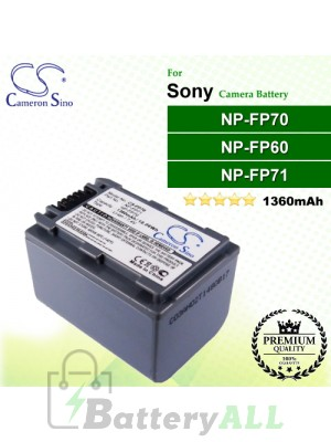 CS-FP70 For Sony Camera Battery Model NP-FP60 / NP-FP70 / NP-FP71