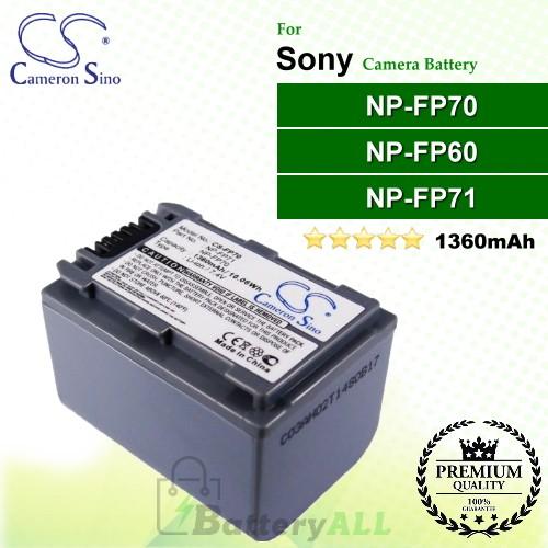 CS-FP70 For Sony Camera Battery Model NP-FP60 / NP-FP70 / NP-FP71