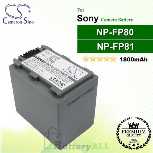 CS-FP80 For Sony Camera Battery Model NP-FP80 / NP-FP81