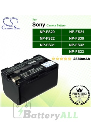CS-FS21 For Sony Camera Battery Model NP-FS20 / NP-FS21 / NP-FS22