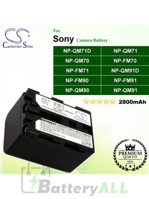 CS-QM71D For Sony Camera Battery Model NP-QM71D