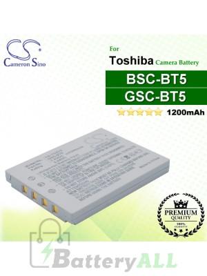 CS-TOBT5 For Toshiba Camera Battery Model BSC-BT5 / GSC-BT5