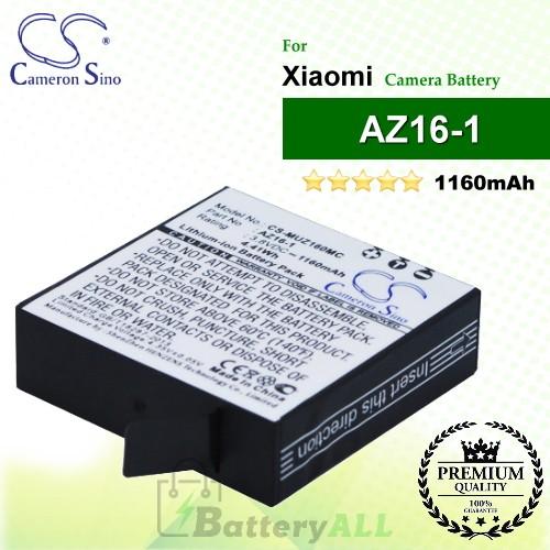 CS-MUZ160MC For Xiaomi Camera Battery Model AZ16-1