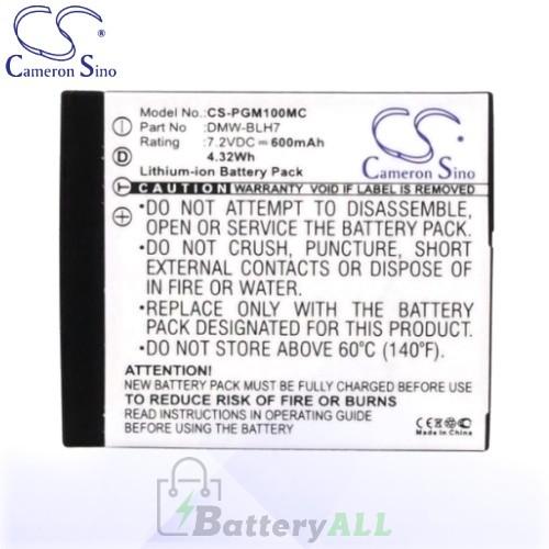 CS Battery for Panasonic Lumix DMC-GM1kW / DMC-GM1S Battery 600mah CA-PGM100MC